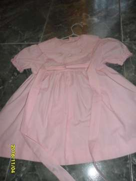 VESTIDO ROSA TALLE 12/18 MESES IMPECABLE