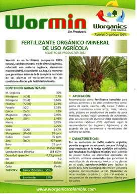 Fertilizante Orgánico MIneral Wormin