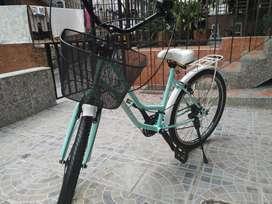 Bicicleta dama marca Playera 26 con 7 velocidades