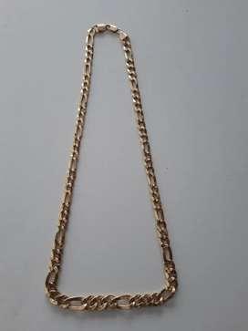 Vendo cadena tejido 3en1 degrade, oro 18k ITALIANO