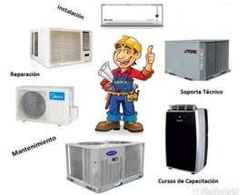 Reparaciónes de aires acondicionados, neveras, lavadoras y estufas todo de cualquier tipo y todas las marcas