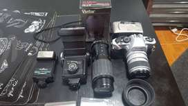 Equipo Fotográfico Vivitar V4000 Reflex Completo Con Accesor
