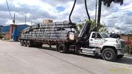 Transporte de posteria tubería equipos y herramientas