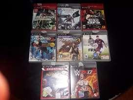 Vendo solamente juegos ps3