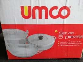 Juego de ollas UMCO 5 piezas