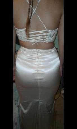 Vestido de Fiesta Color Champagne