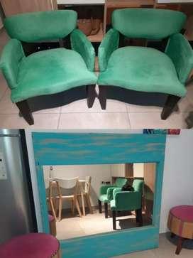 Vendo sillones y espejo