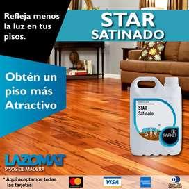 Barniz en base agua para pisos de madera, parquet, parqueton, machihembrado / mobiliaria de madera / STARSatinado