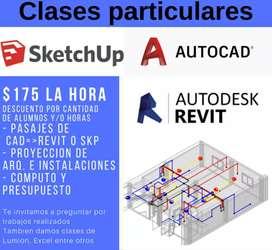 Clases particulares de Revit, Autocad 2d, Sketchup y mas programas de la construccion