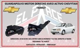 GUARDAPOLVO MOTOR AVEO ACTIVO CHEVYTAXI FAMILY EMOTION