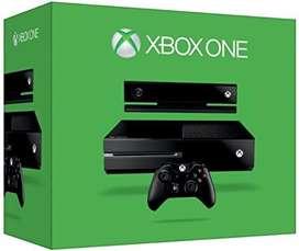 XBOX ONE + FIFA 21 + FALLOUT 4 + 2 CONTROLES + KINECT