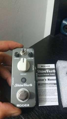 VENDO  PEDAL ANALOGO Mooer Shimverb Reverb importado nuevo en caja 200.000