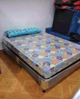 Base cama + colchon ortopedico