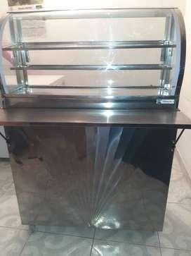Vendo vitrina calefaccion 90cm estilo burbuja con mueble