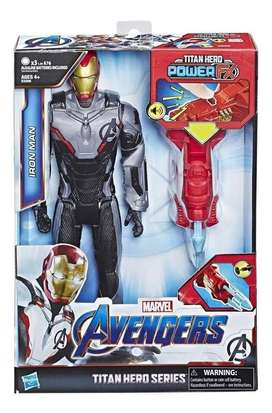 Iron Man Avengers Power Fx 30 cm con Sonidos y Lanzador Original hasbr