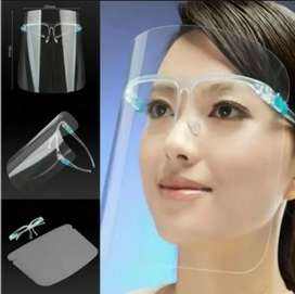 Careta Protectora facial con marco de gafa transparente