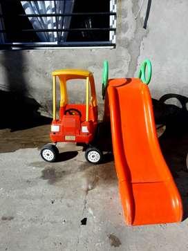 Tobogán Vegui y auto Rotoys