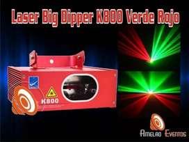 Laser K800 Rojo Verde Dmx Luces Humo Led