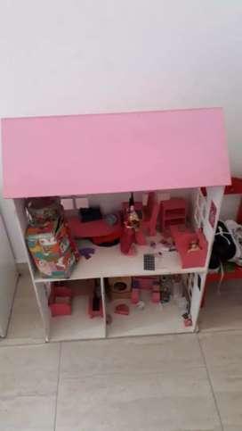 Casa de Barbie, cochecito de compras de Barbie, atril de dibujo con pizarra