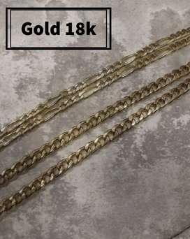 Cadenas en oro 18k italiano