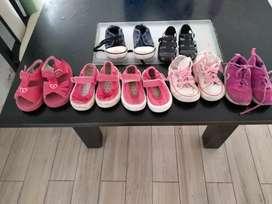 Lote de sapatillas nena del 19 al 20