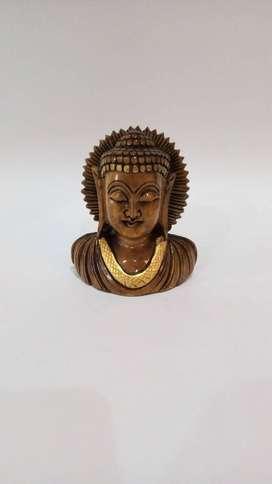 Buda tallado en madera