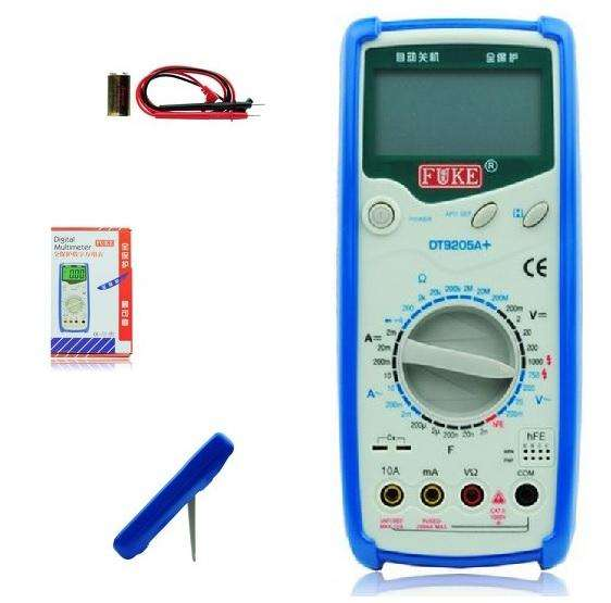 Multimetro Digital Fuke Dt9205 Mide Condensador Transistor 0
