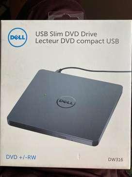 Unidad quemadora Dell usb slim DVD