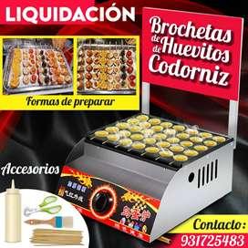 máquina brochetas huevitos de codorniz