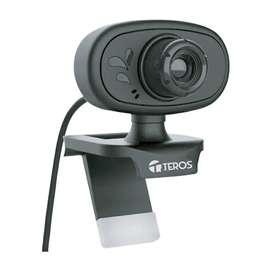 CÁMARA WEB TEROS TE-9054, HASTA 480P, MICRÓFONO INCORPORADO, USB 2.0.