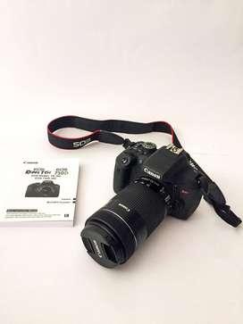 Camara Canon Rebel T6i ( Mas kit de fotografía y video)
