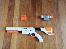 Pistola 3 piezas Control Wii juegos de disparo naranja