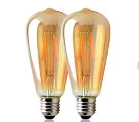Bombillo Pera vintage  edisson 4 watts luz led decorativo