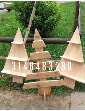 Árbol de Navidad en madera vintage