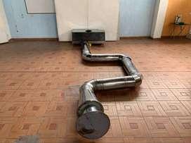 Campana Extractora Industrial / En Acero y Motor Incluido / Única en Venta