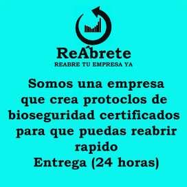 Protocolos de bioseguridad certificado