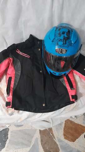 Vendo casco y chaqueta