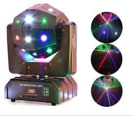 Cabeza Movil Bola Loca 3 en 1 Dmx Laser
