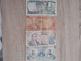 Coleccion de Billetes de 200, 100, 10 y 1 pesos