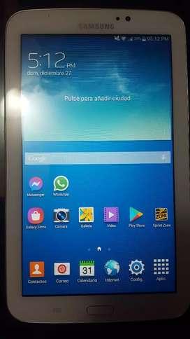 Vendo tab 3 Samsung original como nueva con protector de cuero