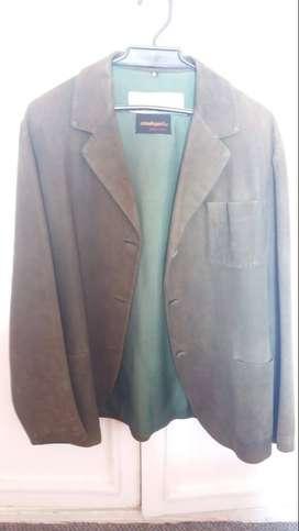 chaqueta verde de gamuza para mujer talla M