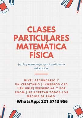 profesor particular de matemática y física