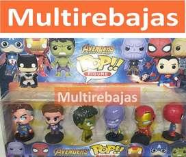 Colección De Superhéroes Pop 6 Muñecos Diferentes