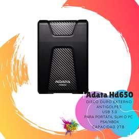 ADATA HD650 2TB TERAS DISCO DURO EXTERNO PARA PORTATIL /PC , XBOX/PS4