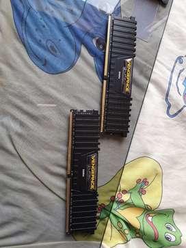 MEM. DDR4 8GB (4GBX2) CORSAIR VENGEANCE LPX