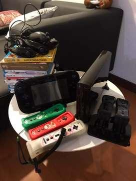 Nintendo Wii u con controles y juegos