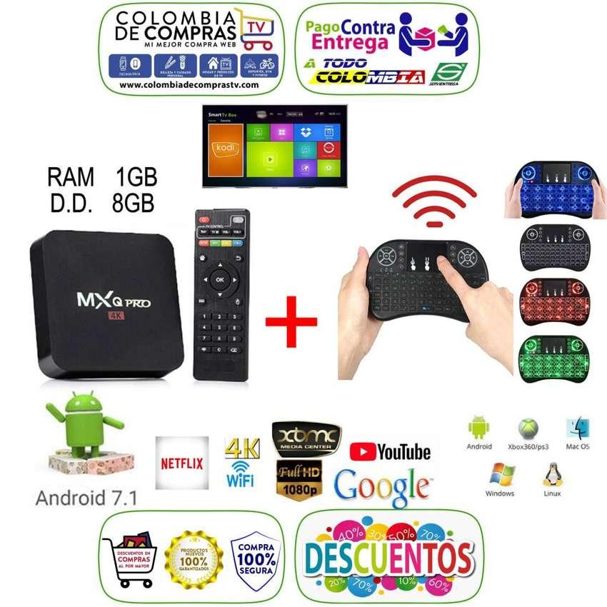 COMBO Tv Box 4k Convertidor A Smart TV Ram 1 GB, D.D 8 GB Y Miniteclado Con Mouse Integrado, Nuevos, Garantizados 0