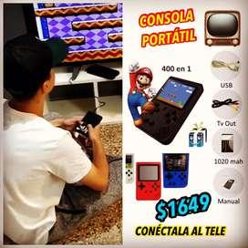 CONSOLA PORTATIL SE CONECTA AL TELE