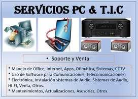 SERVICIOS DE PC, TECNOLOGÍA, AUDIO & OTROS
