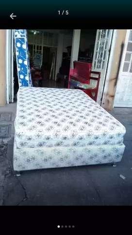 Base camas y colchón pullman resortado